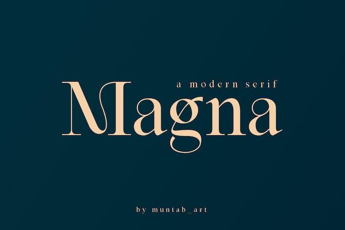 Magna | Fuente Con serifa moderna