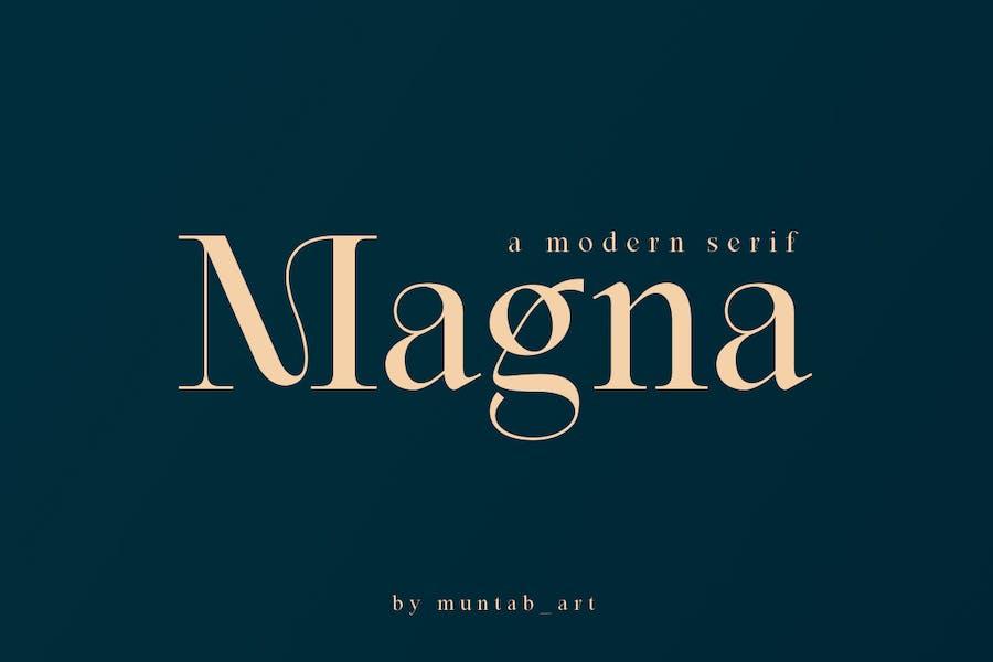 Magna   Fuente Con serifa moderna