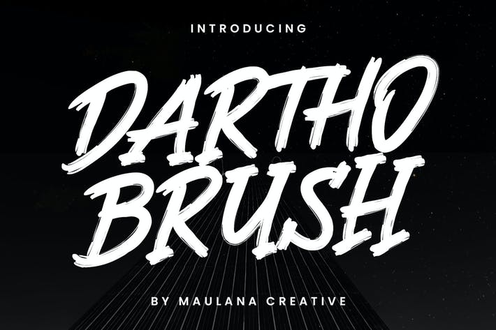 Thumbnail for Tipo de letra de pincel Dartho