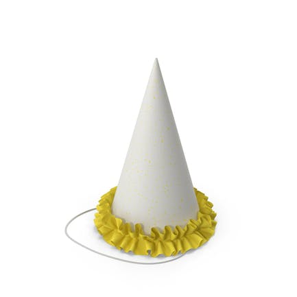 Sombrero de fiesta con parrilla amarilla