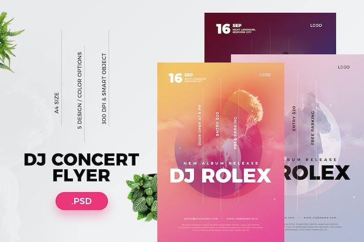 Thumbnail for Folleto de conciertos de DJ