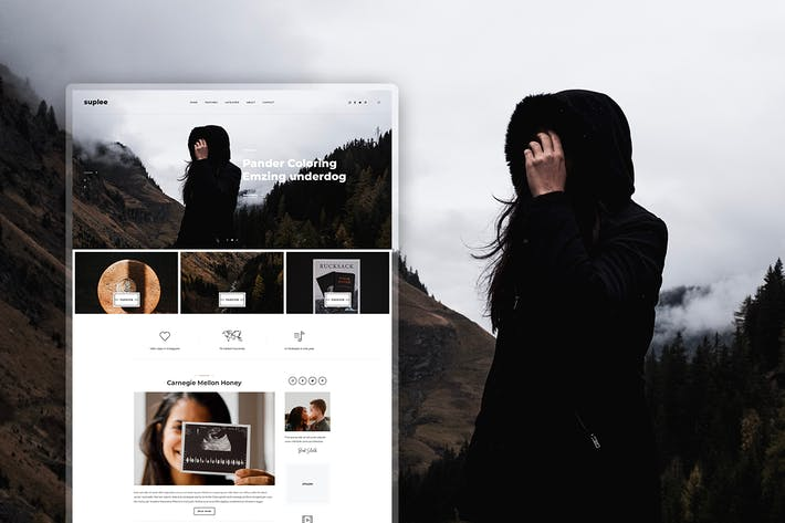 Thumbnail for Suplee - Blog Template for Instagrammers