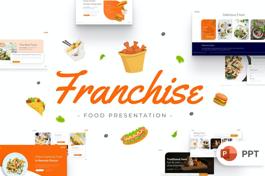 Franchise Food PowerPoint Template