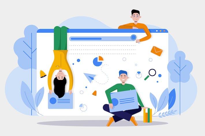 Thumbnail for Web Design Agency Illustration