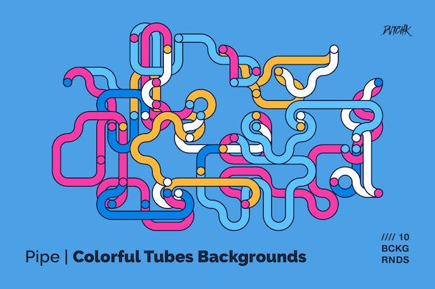 Pipe | Colorful Tubes Backgrounds