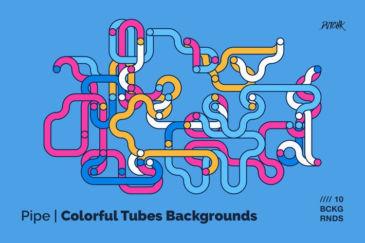 Thumbnail for Pipe   Colorful Tubes Backgrounds