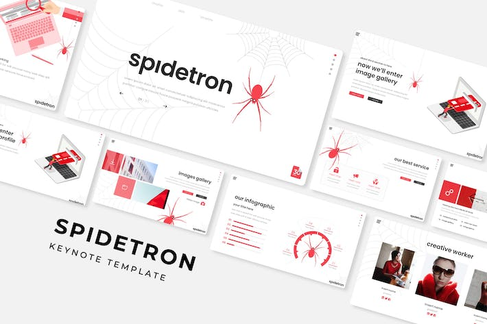 Cover Image For Spidetron - Keynote Template