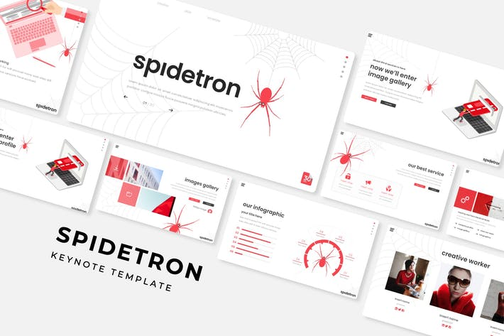 Thumbnail for Spidetron - Keynote Template
