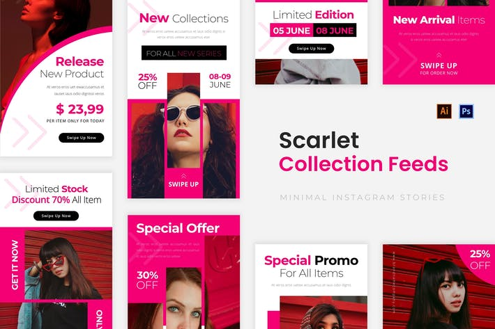 Thumbnail for Scarlet Collections Instagram Story