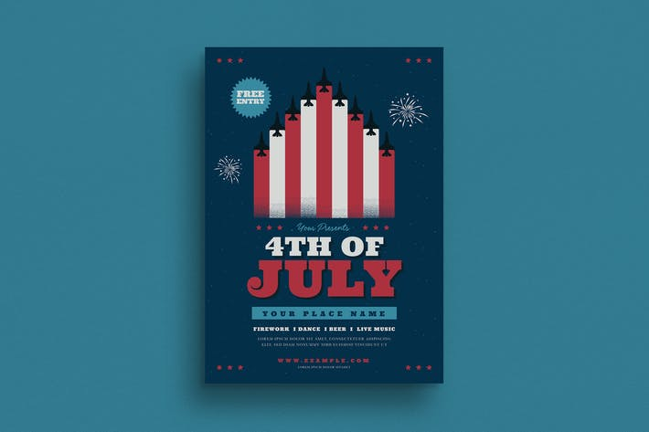 Thumbnail for 4th Of July Celebration Flyer