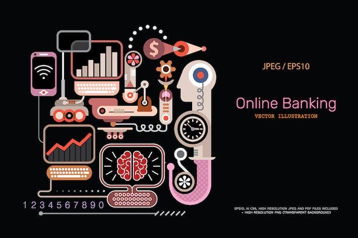 Thumbnail for Online Banking vector illustration