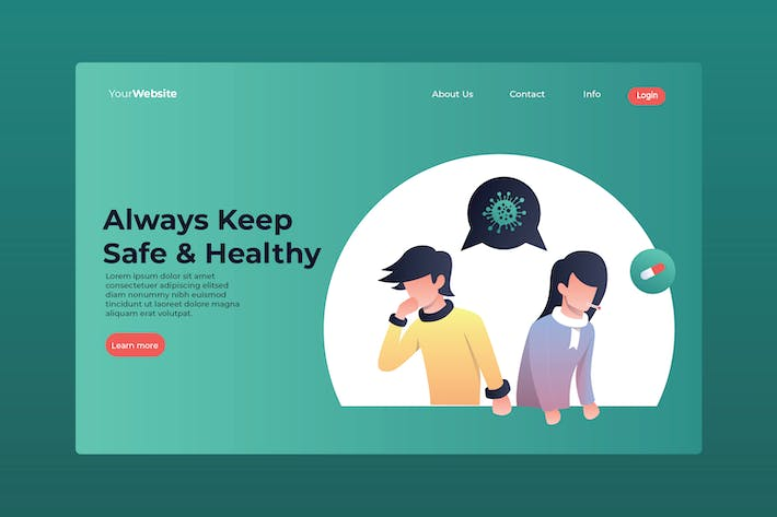 Always Keep Safe & Healthy Landing Page