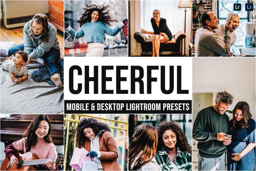 Cheerful Mobile and Desktop Lightroom Presets