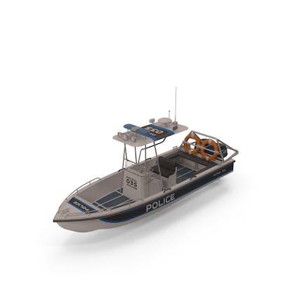 Polizei-Patrouillen-Motorboot