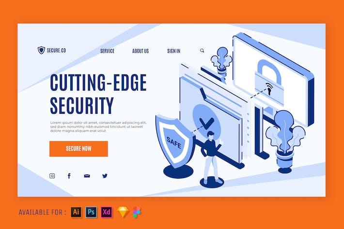 Thumbnail for Cutting Edge Security - Isometric Web Illustration