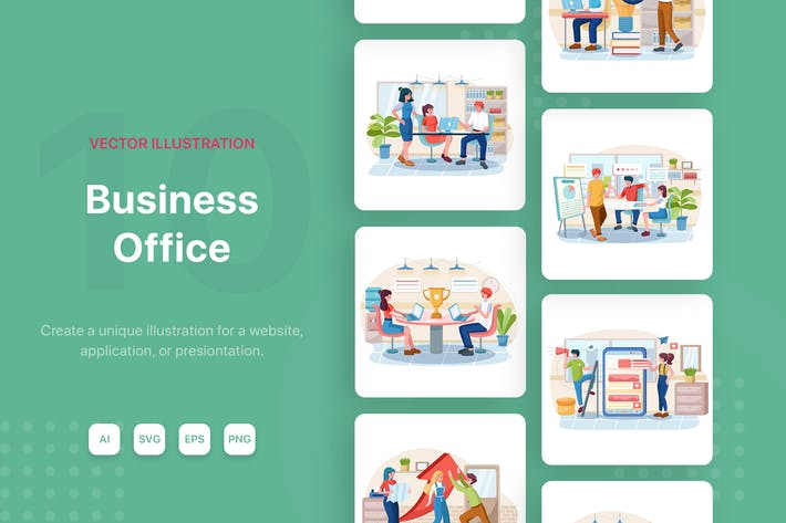 Thumbnail for Business Office Illustrations
