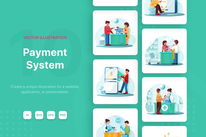 Thumbnail for POS - Payment System Illustrations