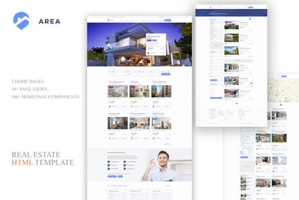 Area — Real Estate HTML Template
