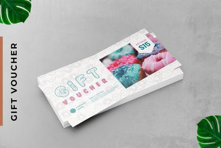 Gift Voucher Donut Card Promotion