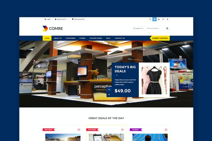 Cover Image For Comre - Coupon & Offers HTML Template