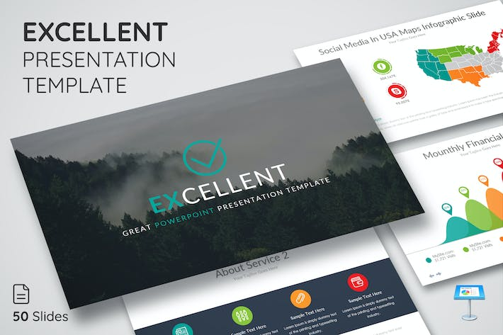 Thumbnail for Excellent - Keynote Presentation Template