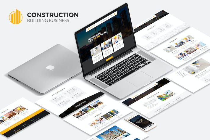 Thumbnail for Construction Building Business PSD Template