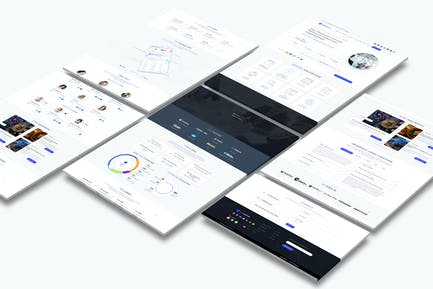 Cryptocurrency and ICO Landing Page Light