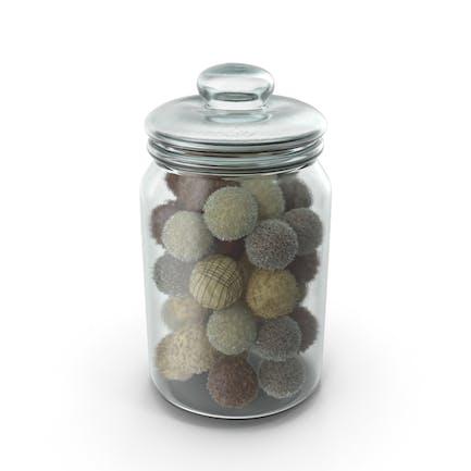Jar With Mixed Chocolate Balls