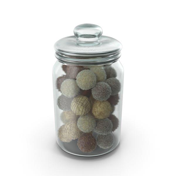 Thumbnail for Jar With Mixed Chocolate Balls