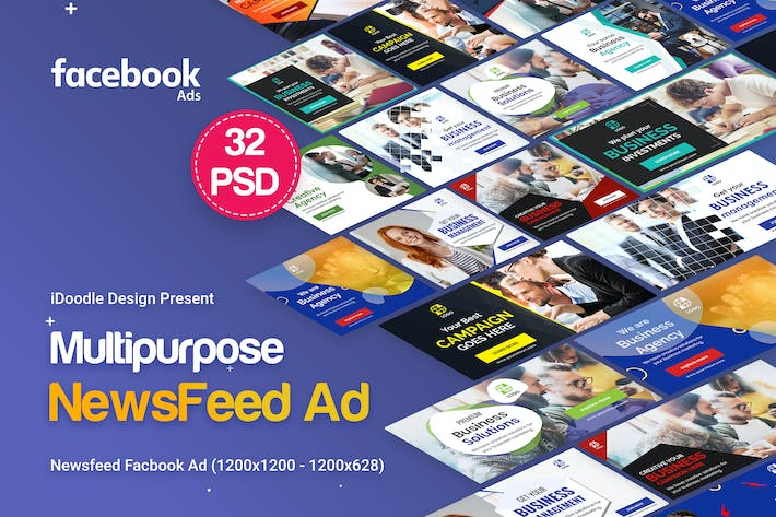 Thumbnail for NewsFeed Multipurpose, Business Banners Ad