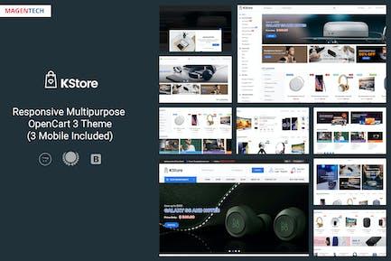 KStore - Tema Multifunción OpenCart 3 Hi-Tech