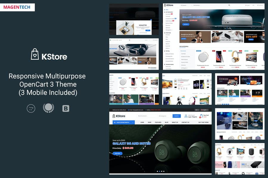 KStore - Multipurpose OpenCart 3 Hi-Tech Theme