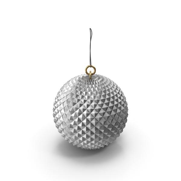 Рождественский серебряный орнамент