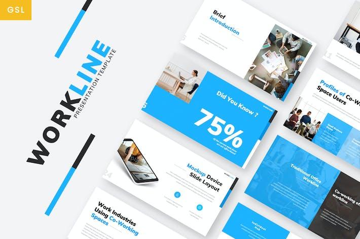 Thumbnail for Workline - Firma Google PräsentationsVorlage