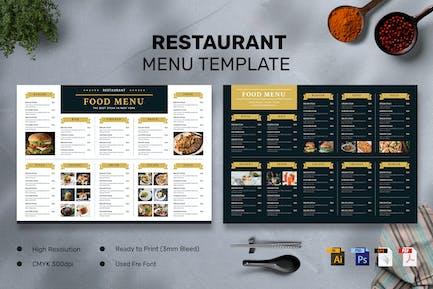 Restaurant - Food Menu Landscape
