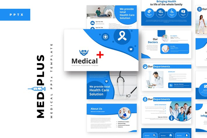 Thumbnail for MediPlus Medical PowerPoint Template
