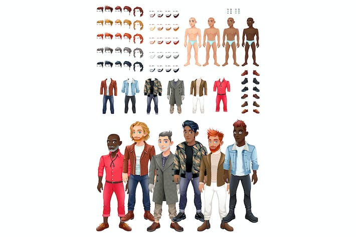 Cover Image For Dresses and Hairstyles Game with Male Avatars