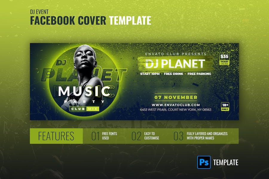 Facebook Cover   DJ Planet Music