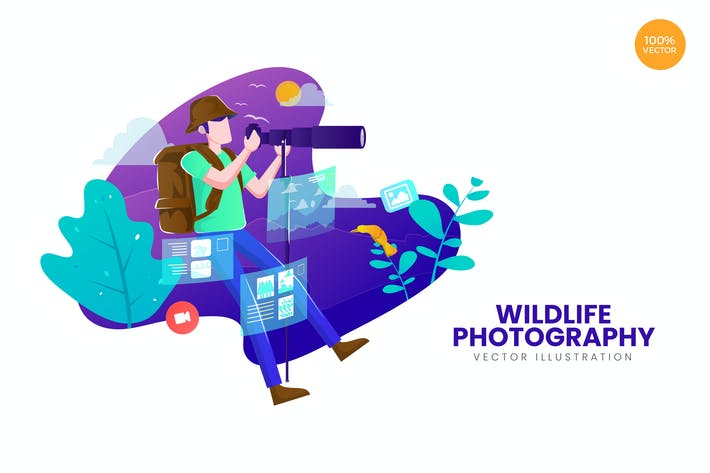 Thumbnail for Wildlife Photography Vector Illustration Concept