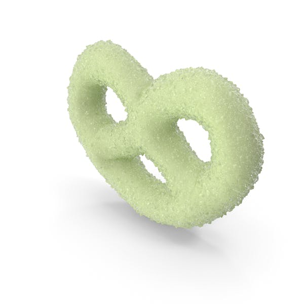 Key Lime Yogurt Covered Mini Pretzel with Sugar Coating