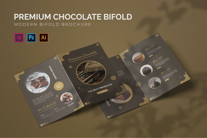 Premium Schokolade - Bifold Broschüre