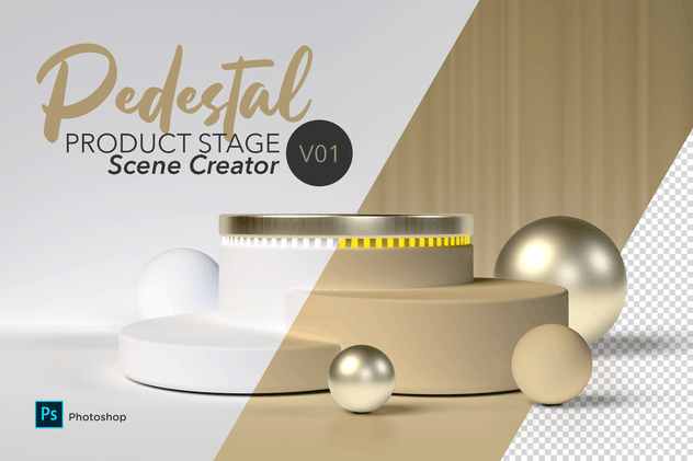 Pedestal Scene Creator V01 - product preview 0