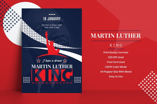 Martin Luther King Jr. Flyer Template