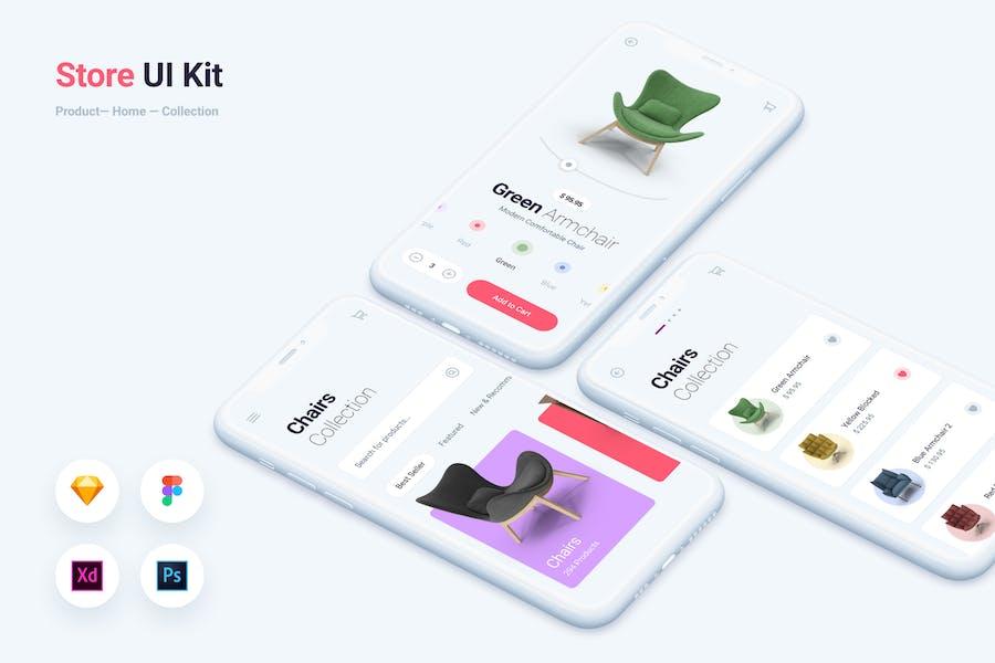 Store & Shopping Mobile App UI Kit Template