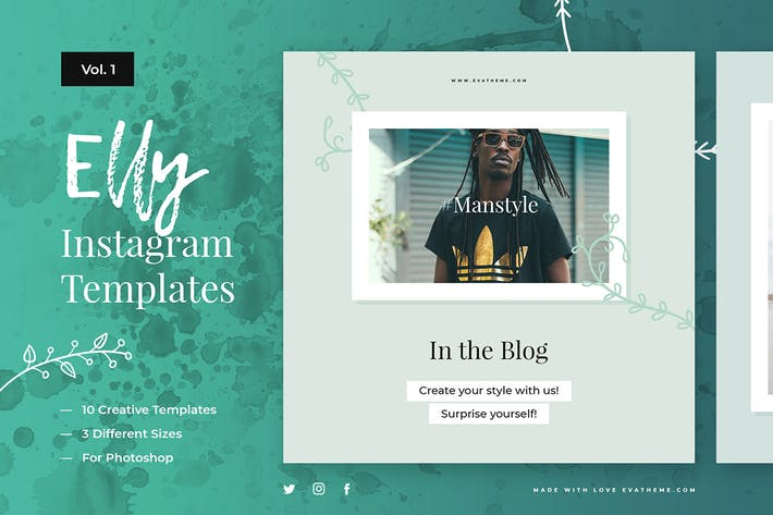 Thumbnail for Elly Instagram Templates Vol.1
