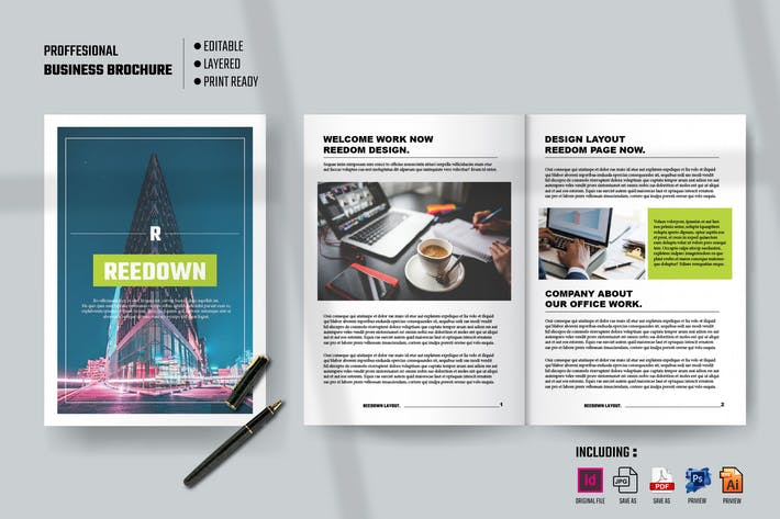 Thumbnail for REEDOWN - Professional Business Brochure Template