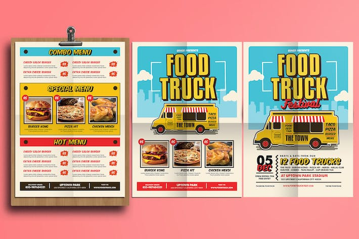 Download Street Print Templates Envato Elements - Food truck flyer template