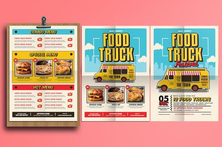 Food Truck Festival PosterFlyerMenu By Vynetta On Envato Elements - Food truck flyer template