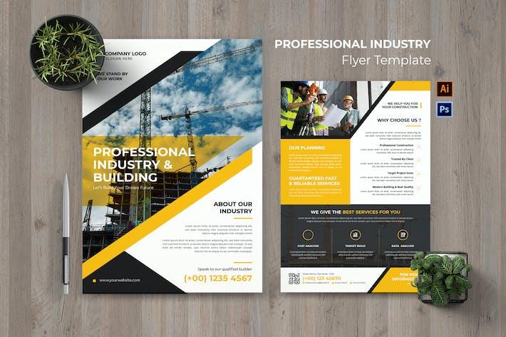Flyer für professionelle Industrie