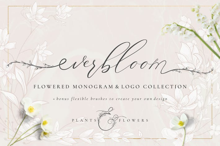 Thumbnail for Flowered Monogram & Logo Collection